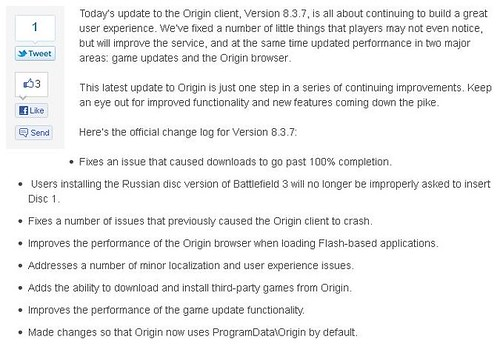 Origin Update!