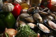 Ingredients for Sjef Hansen's Spicy Mussel Pot