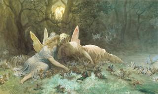 """Gustave Dore (1832-1883), """"Les Fées (Scèn..."""