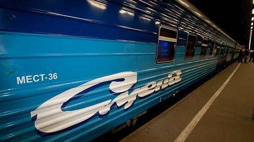 Tren nocturno San Petersburgo - Moscú