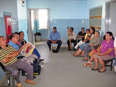 Patients waiting at the clinic. PARAGUAY.