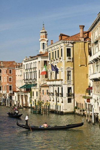 Gondola on the Grand Canal, Venice, Italy