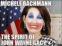 Michele Bachman Tries To Identify With a Serial Killer.