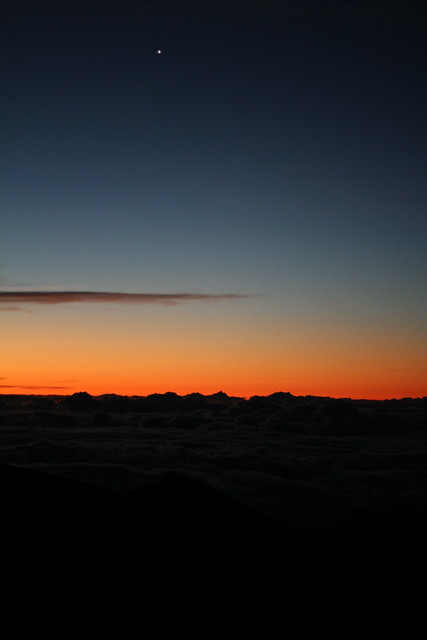 Beginning of the Haleakala Volcano Crater Sunrise, Maui