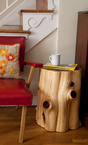 A DIY Tree Stump Table The Reveal  DIY Del Ray