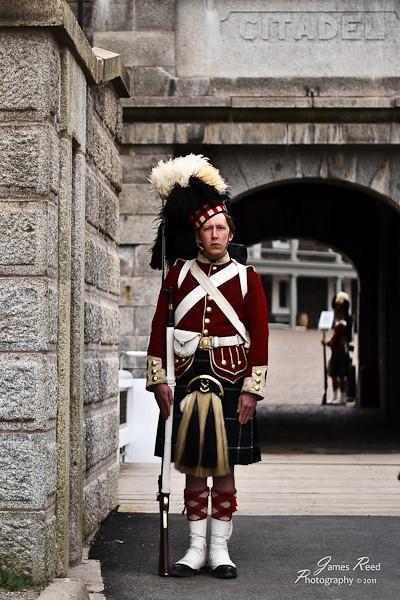 A Highlander on guard duty.