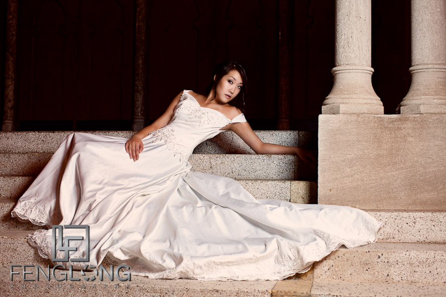 Alice's Bridal Portrait Glamour Session | Fox Theatre | Atlanta Wedding Photographer