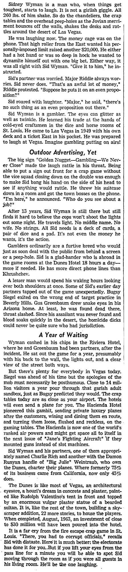 SID WYMAN Dec.12,1962