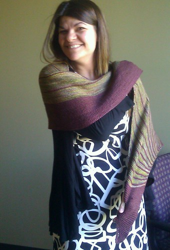 t and her new shawl