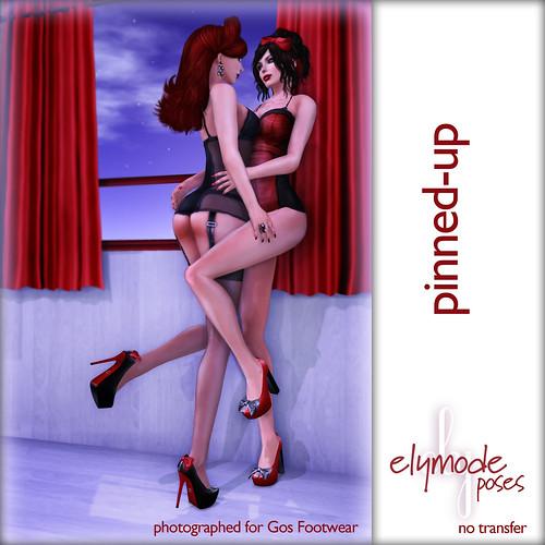 Pinned-up pose set