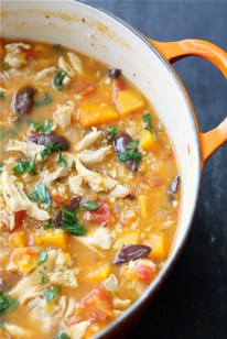 Hearty Chicken Stew with Butternut Squash & Quinoa...The most popular recipe on my site! | cookincanuck.com #healthy #glutenfree