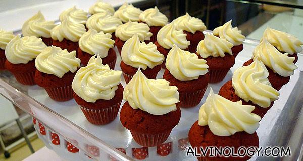 Lovely velvet cupcakes