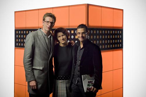 FIAC Paris 2011 - Orange : Xavier Leclerc (Facebook France), Odile Roujol (Orange France) et Arash Derambarsh by Arash Derambarsh