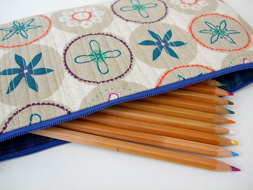 Quilted pencil case