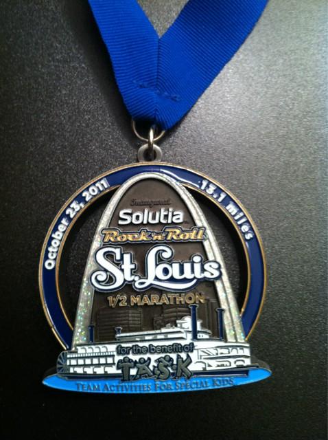 lauren's 1/2 medal.