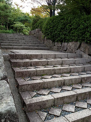 Beautiful steps in the gardens.