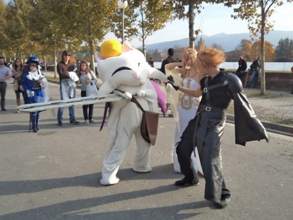 Cloud, mog cosplay