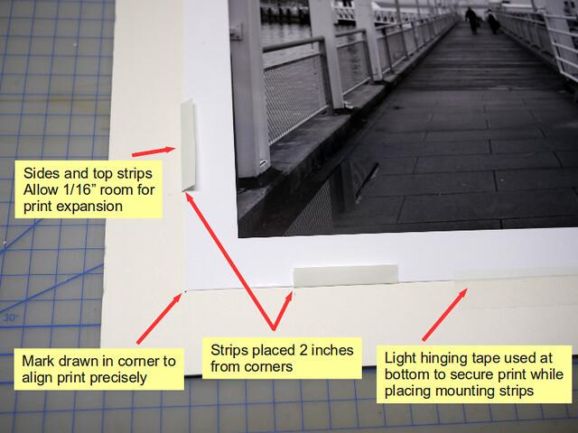 Mounting a print using Art Savers