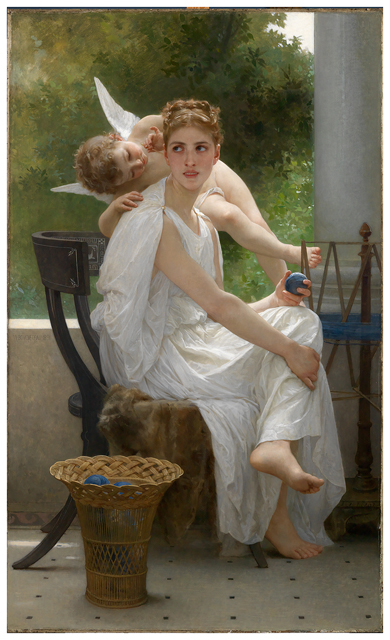 Bouguereau, William-Adolphe, Le Travail interrompu, 1891. Via centuriespast.tumblr.com.