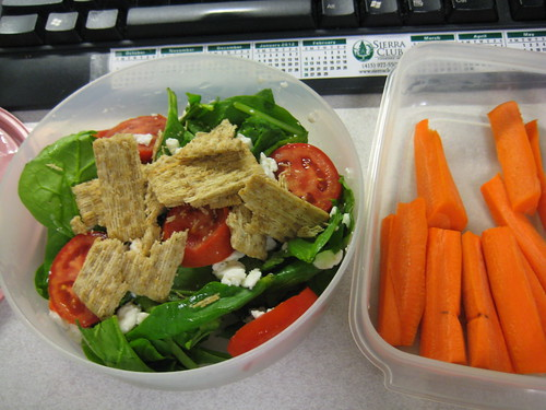 salad and carrots