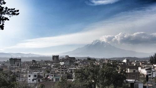 Chimborazo over Riobamba