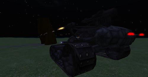 Carmageddon Tank 4, machine guns in the dark