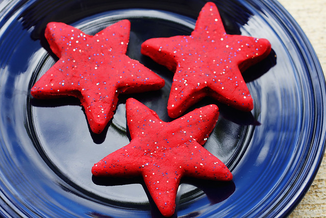 July 4th Glitter Playdough