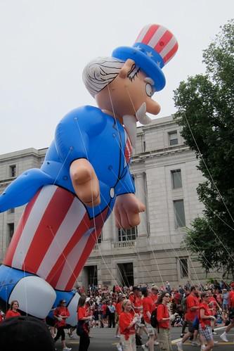Uncle Sam Parade Float