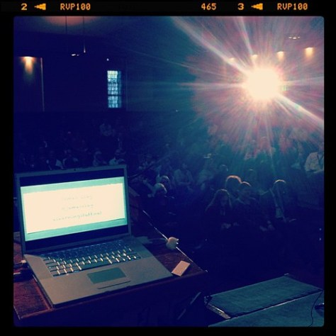 The view from the stage #fote11