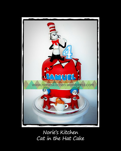 Norie's Kitchen - Cat in the Hat Cake by Norie's Kitchen