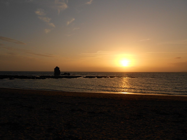 Sunset at Thurlestone Beach
