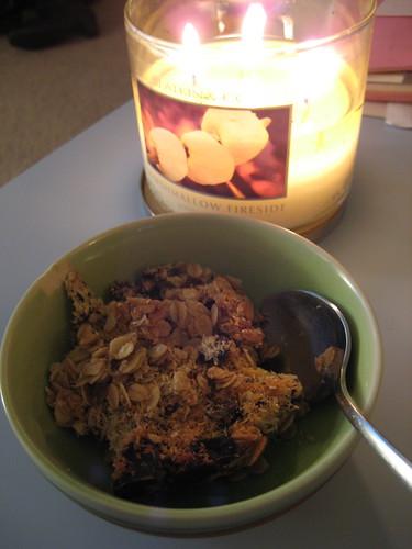 vegan dessert and candle