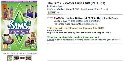 Pre-Order Master Suite Stuff from Amazon and Origin!