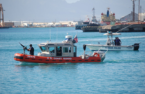 USCG and harbor police