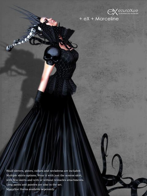+ eX + Marceline Goth Dress *Black