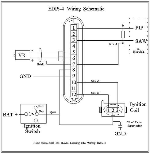 EDIS Wiring weak spark