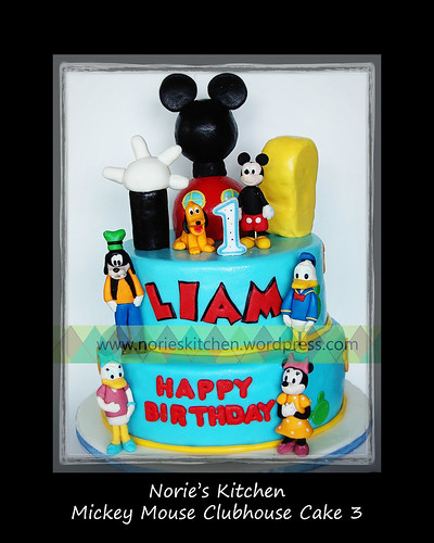 Norie's Kitchen - Mickey Mouse Clubhouse Cake 3 by Norie's Kitchen