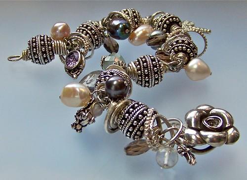 Bali Sterling Silver Gemstone & Pearl Bracelet by WETCLOUD