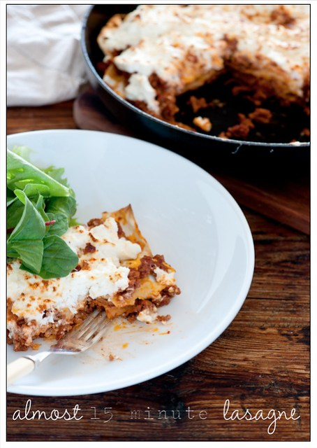 almost 15 minute lasagne