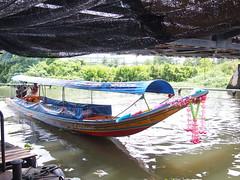 Longtail Boat for trips, Taling Chan, Bangkok