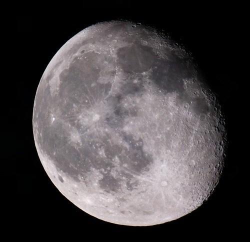 La lune, 40D + MTO 1000AM + doubleur