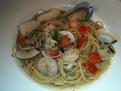 White Wine Seafood Deluxe Spaghetti