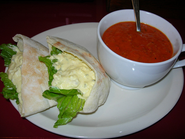 30 Minute Tomato Tarragon Soup & Egg Salad Sandwich