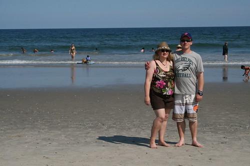 Dianne and Sean Chincoteague beach