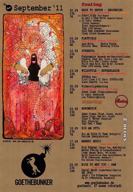goethebunker programm sept.2011