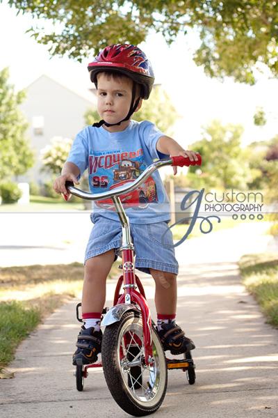 Jack on his bike