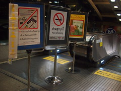 Entrance to MRT Train Station, Bangkok