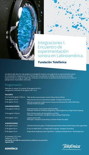 Integraciones I. Encuentro de experimentación sonora en Latinoamérica.
