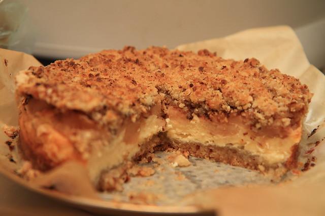 Maskarponės ir obuolių pyragas