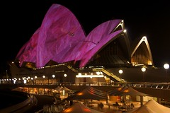 The Opera House illuminated during the Vivid F...
